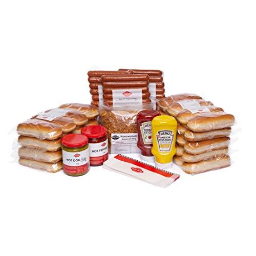 Hot Dog World BEEF Hot Dog Party-Paket 36 Stück (Süßes Gurkenrelish + Süßes Gurkenrelish)