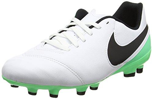 Nike Tiempo Legend Vi FG, Botas de fútbol Unisex niños, (White/Black/Electro Green), 38 EU