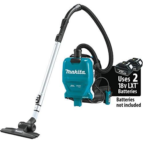 Makita XCV09Z 18V X2 LXT Lithium-Ion (36V) Brushless Cordless 1/2 Gallon HEPA Filter Backpack Dry Vacuum, Tool Only