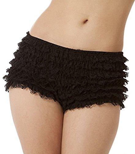 BellaSous Malco Modes Womens Sexy Ruffle Panties Tanga Dance Bloomers Sissy Booty Shorts (Black, Large)