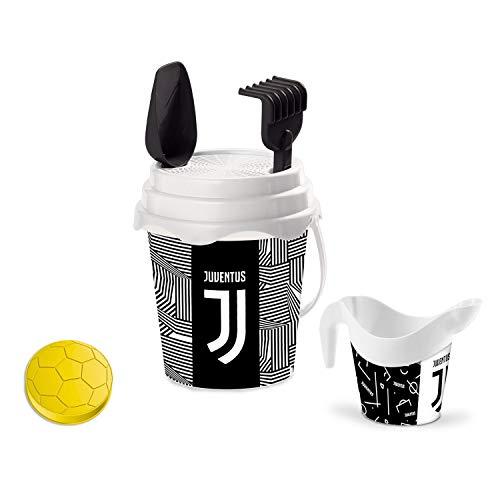 Mondo Toys F.C. Juventus Bucket Set, Set Mare Renew Toys con Secchiello, Paletta, Rastrello, Setaccio, Formina, Annaffiatoio Inclusi, 28627