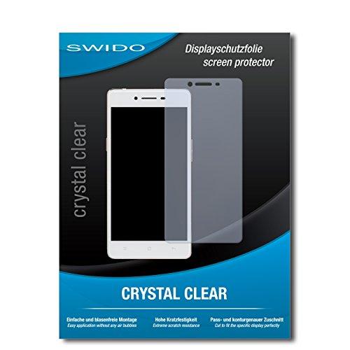 SWIDO Bildschirmschutz für Oppo R7 Lite [4 Stück] Kristall-Klar, Hoher Festigkeitgrad, Schutz vor Öl, Staub & Kratzer/Schutzfolie, Bildschirmschutzfolie, Panzerglas Folie