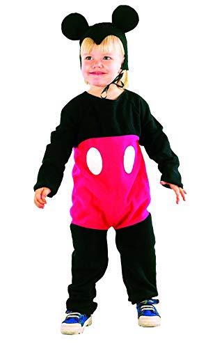Déguisement souris rouge et noire mickey enfant 2-4 ans (combinaison, coiffe)