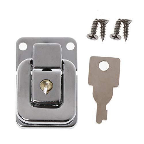ZJL220 Caja de joyería de metal de bloqueo de maleta hebillas de palanca de cierre de pestillo de cierre con llave