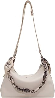 DSJTCH Women's Shoulder Bag Shopper Totes Chain Soft PU Leather Simple Evening Female Crossbody Bags For Women (Color : Be...