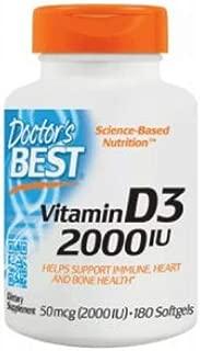 Doctor's Best - Best Vitamin D3 2000 IU - 180 Softgels