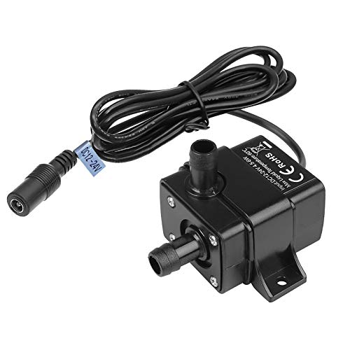 MOUNTAIN_ARK DC 12-24V Mini Submersible Water Pump Max. 220L/H Fountain Pump High Lift 9.8ft, with 1.6m Power Cord for Fish Tank Pumping, Rockery Water, Bonsai Fountain, Clear Water Only