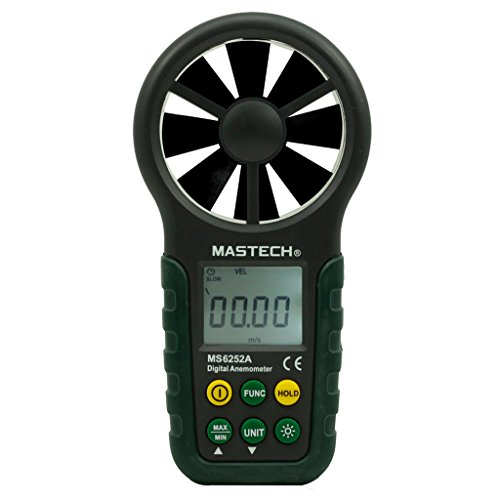 Mastech MS6252A Handheld Digital Anemometer Windgeschwindigkeit Messer Windmesser mit Bargraph Display