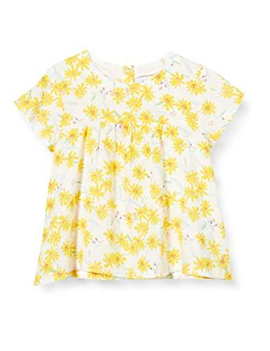 Petit Bateau Mädchen 5297201 Bluse, Mehrfarbig (Marshmallow/Multico Bfq), 18-24 Monate (Herstellergröße: 24Monate)