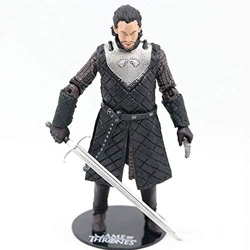 Mdcgok HBO: Juego de Tronos - Figuras de acción de Jon Snow (Lata de Armas) Forma Colección de taquilla para el hogar Figura 18CM