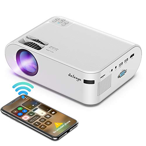 Mini Proyector Portatil para Celular - Salange Led hd Proyectors Wifi con 6500 Lux, 720P nativo, Soporte Zoom X-Y y Dolby Sound ,...