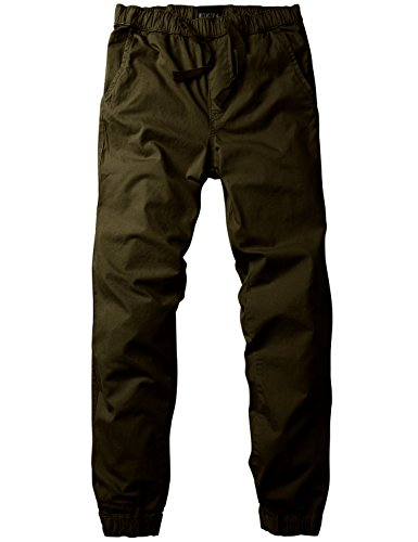 Match Men's Loose Fit Chino Jogger Pant (34,6054 Army yellow)