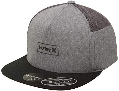 Hurley M Phantom Locked 2.0 Hat Gorra, Hombre, Dk Smoke Grey, 1SIZE