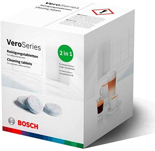 Bosch TCZ8001A Reinigungstabletten für Kaffeevollautomaten der Vero Serie, Einbauvollautomaten und der benvenuto Reihe