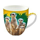 Animug - Suricata de Deluxebase. Taza grande de cerámica 450ml. Una taza animal de suricata que es una adición genial a tu colección de tazas o como un bonito, divertido y original regalo.