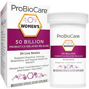 Probiotic for Women 50 Billion CFUs Supports Digestive Health (60 Vegetable Capsules)