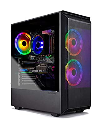 SkyTech Siege Mini - Gaming Computer PC Desktop – Ryzen 7 2700X 8-Core 3.7 GHz, NVIDIA GeForce RTX 2070 Super 8GB, 1TB SSD, 16GB DDR4, AC WiFi, Windows 10 Home 64-bit, Phanteks P300A Case
