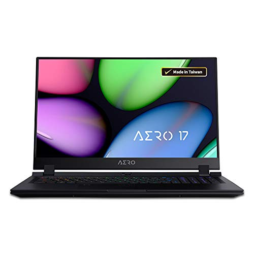 GIGABYTE AERO 17 HDR XA-7US4130SQ 17.3' Thin Bezel UHD HDR, i7-9750H, NVIDIA GeForce RTX 2070 Max-Q, Samsung GDDR6 8GB 16GB DDR4 2666MHz RAM, 512GB Intel 760P SSD, Windows 10 Pro,RTX Studio Laptop