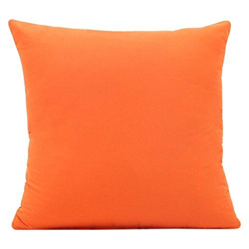 Pommee - Funda de cojín de color liso creativo, sin núcleo, para coche, sofá, funda de cojín, color naranja