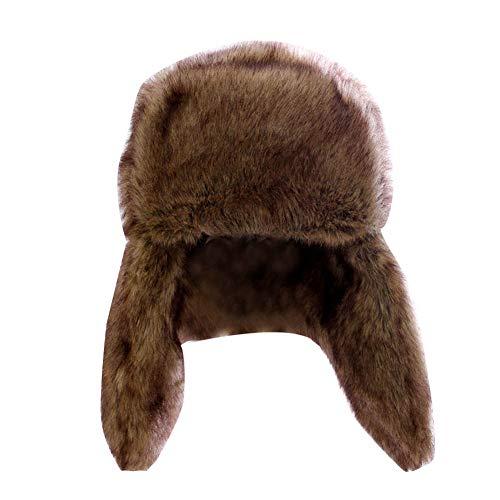 LaoZanA LaoZanA Herren Damen Faux Pelzmütze Fellmütze Wintermütze Skimütze Mütze Hut Fellfarbe