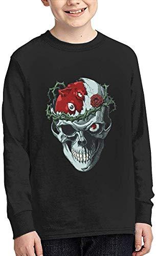 Be-rserk Boy Sports Shirt Long Sleeve Pullover Round Neck Fashion T-Shirt,Black,Small