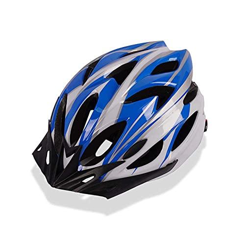 Pkfinrd Casco de Bicicleta, Casco de Ciclo de Seguridad Ultra Ligero Ajustable Adecuado para Ciclismo Adulto/Hombres/Mujeres/Juventud (se Adapta a los tamaños de Cabeza 54-62cm) (Color : 1)