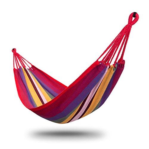 Yxsd Draagbare hangmat, Outdoor Tuincamping, Dikke Canvas schommelstoel, Blauw, 200 * 80 Cm