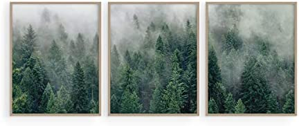 Haus and Hues Misty Forest Print Nature Poster Forest Posters Landscape Photography Prints Tree product image