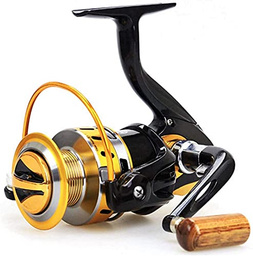 NYCUABT Carrete de Pesca Metal Line Bobina 12BB Relación 5.5: 1 Pesca de mar señuelo Spinning Reels Carpa YB2000-7000 (Size : YB2000)