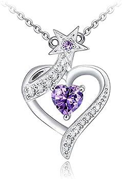 Choker Women's 925 Sterling Silver Heart Star Necklace