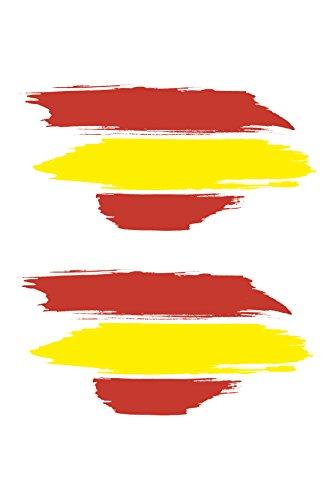BC Corona ADH06593 2 Pegatinas Bandera ESPAÑA Pincel Vinilo 10 X 4,5 CM, Set de 2