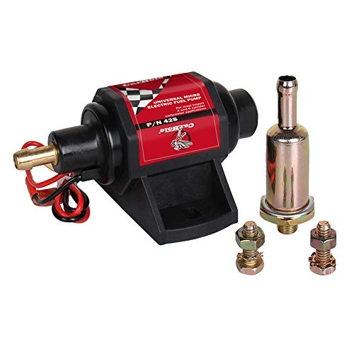 Universal 12v Micro Electric Fuel Pump 2-3.5psi 28 GPH Gasoline Fuel Transfer Pump for 4v 6v Carburetor