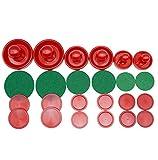 LZYMSZ Air Hockey Pushers & Pucks Set, 6 Juegos de Peso Ligero Air Hockey Pucks de reemplazo y Deslizador Empujador para Equipos de Mesas de Juego (Tamaño Pequeño / Mediano / Grande)
