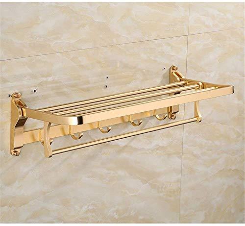 Almacenamiento en la pared Accesorios para el baño Gancho Colgador de baño dorado Colgador de toallas Colgador de barras múltiples