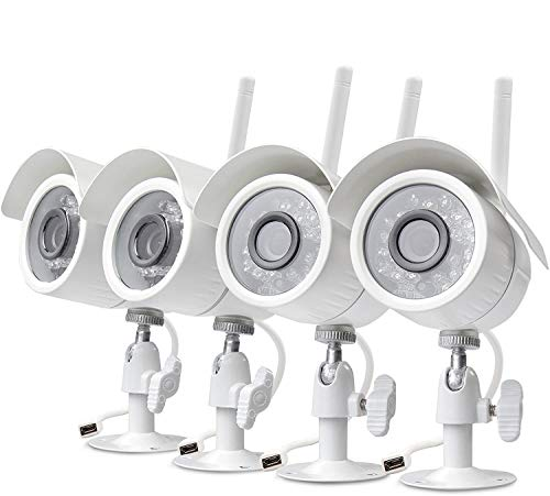 Zmodo 720p HD Outdoor Home Wireless Security Surveillance Video Cameras System (4 Pack)