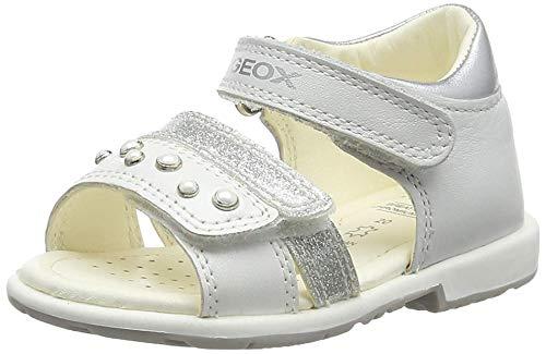 Geox Baby Mädchen B Verred a Sandalen, Weiß (White C1000), 26 EU