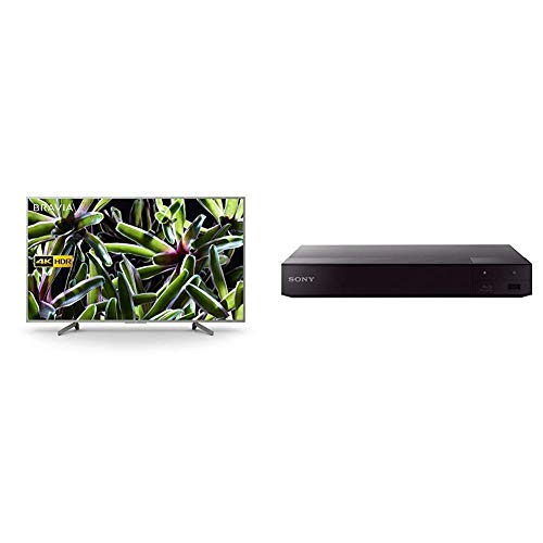 Sony BRAVIA KD65XG70 65-inch LED 4K HDR Ultra HD Smart TV - Silver + Sony BDP-S6700 Blu-Ray DVD Player with Wireless Multiroom, Super Wi-Fi, 3D, Screen Mirroring and 4K Upscaling (2016 Model) - Black