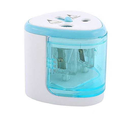 SUPERTOOL Sacapuntas eléctrico automático azul con doble agujero – estacionario para niños...