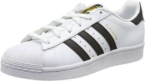adidas Originals Superstar J, Scarpe da Ginnastica Basse, Cloud White/Core Black/Cloud White, 38 2/3 EU