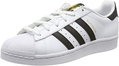 adidas Unisex-Kinder Superstar J Sneaker, Weiß (Cloud White/Core Black/Cloud White 000), 38 2/3 EU