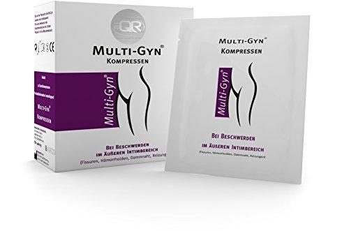 Multi-Gyn Kompressen zur Anwendung im äußeren Intim- und Analbereich 1 Packung mit 12 Kompressen einzeln verpackt