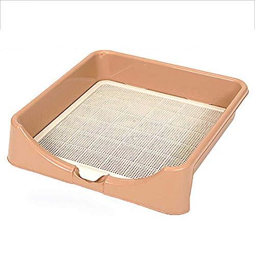 DAN Hundetoilette, Hunde Training Toilette Matte mit Zaun, Toilette für Hunde, für Großer und mittlere Hunde - 63×63×15CM