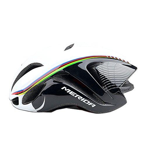 GTYW Casco Bici da Bicicletta Casco Bici da Corsa E Casco da Bici Modello Ciclista,BlackAndWhite-OneSize56-61cm