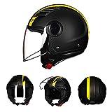 LTongx Noche de Mono · Piloto Mofa Jet-Helmet Chopper Biker Bobber Retro Moto-Helmet Vespa-Helmet Cruiser-Casco Vintage · Certificado Dot · Incl,XL(61~62)