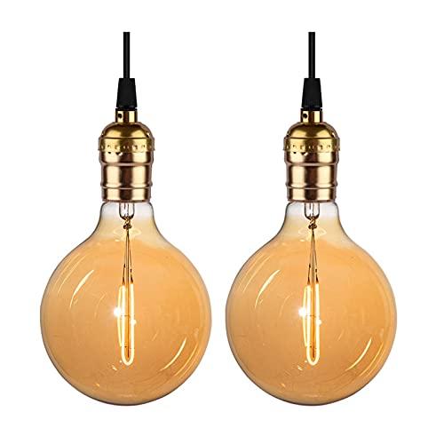 2 pcs Bombilla LED Esférica E27, Bombilla Equivalente a Halógeno, LED Lámparas de Bajo Voltajes Bulbo, El Ahorro de Energía No...
