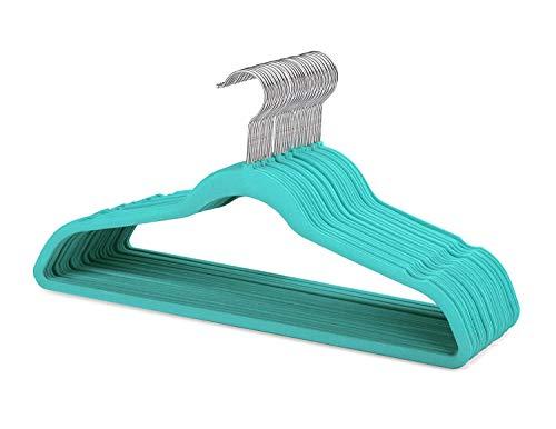 Hangers Velvet Mint Green 60 Pack Felt Hangers Ultra Thin Space Saving 360 Degree Swivel Hook Clothes Hangers Velvet for Coats,Jackets,Pants,Dress