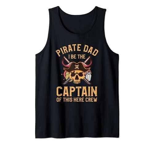 Pap Pirata Soy el Capitn De Este Aqu Tripulacin Camiseta sin Mangas