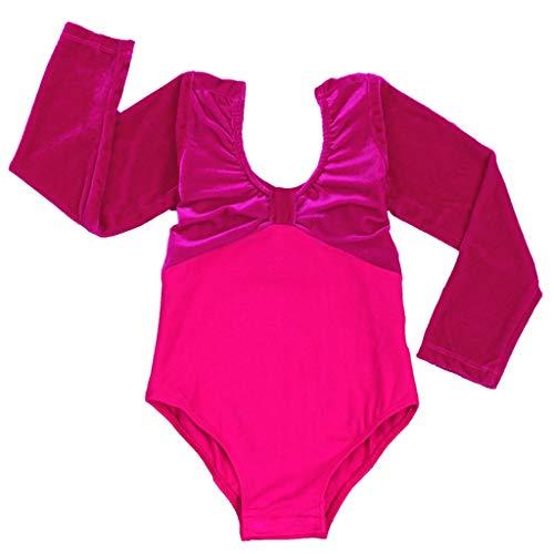 jian e kinderen dans kostuums dans kleding meisjes ballet lange mouwen fluweel jumpsuit latijn kostuums - mix voyeur Geslacht