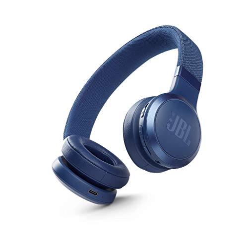 JBL LIVE 460NC Auriculares supraaurales inalámbricos con cancelación adaptativa de ruido, tecnología Bluetooth, hasta 50h de batería sin NC, asistente de voz y conexión multipunto, azul