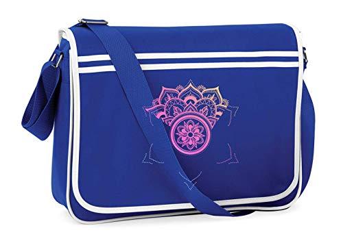 Druckerlebnis24 Schultertasche - Mandala Yoga Blume Indianer - Umhängetasche, geeignet für Schule Uni Laptop Arbeit